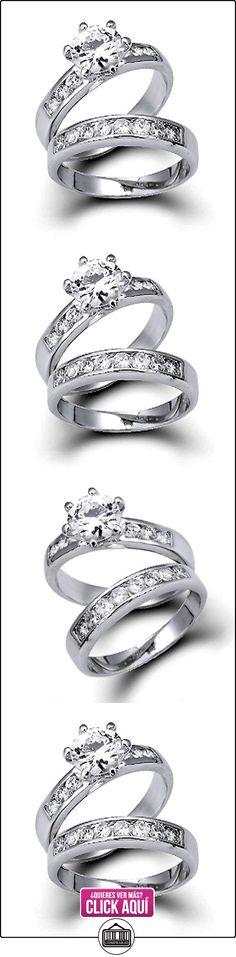 Bling Jewelry 1,5 ct Anillos de Época Redondo CZ Compromiso y Boda Juego de Anillos  ✿ Joyas para mujer - Las mejores ofertas ✿ ▬► Ver oferta: https://comprar.io/goto/B002XCPQ1G