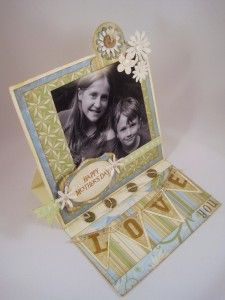 Mother's Day Easel Card made with CTMH Florentine Papers...