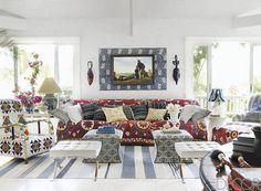 In the living room of Sig Bergamin's home in Bahia, Brazil