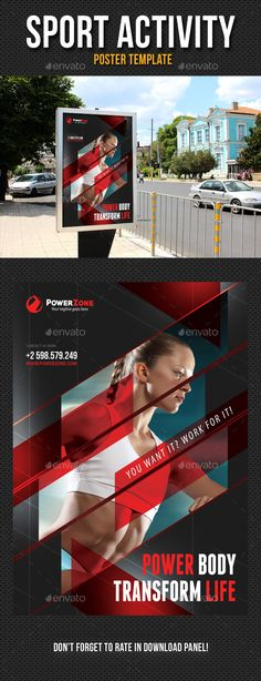 Sport Activity Poster Template PSD. Download here: http://graphicriver.net/item/sport-activity-poster-template-v02/13234958?ref=ksioks