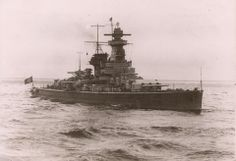 Pre-war view of 11 in 'armoured ship' Admiral Graf Spee.  This class, known as pocket battleships to the allies, were designed as commerce raiders with long range diesel engines, able into outfight anything they could not out run bar the few remaining battlecruisers.  Modern battleships proved able to catch them however - after Graf Spee's loss at the River Plate in 1939 her sisters were re-classified as heavy cruisers.