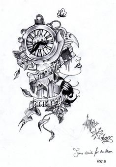 31 Best Time Waits For No Body Tattoo Designs Images Time Tattoos