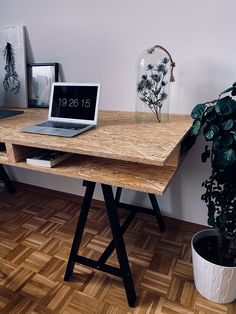 Home Office Space, Home Office Design, Home Office Decor, Home Decor, Plywood Interior, Diy Interior, Interior Design, Industrial Home Offices, Diy Casa