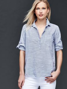 Fine stripe henley | Gap