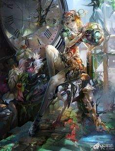 Orianna League Of Legends. So addicted to League of Legends. oh my goodness this is beautiful! Orianna League Of Legends, Lol League Of Legends, Art Manga, Anime Manga, Anime Artwork, Fantasy Artwork, Illustrations, Illustration Art, Character Art