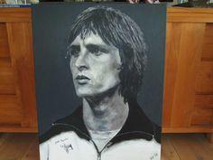 Johan signeert schilderij