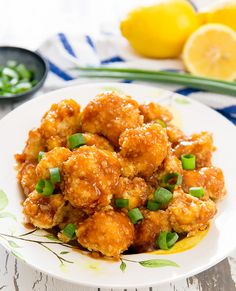 If you enjoy Chinese-style lemon chicken, this is a delicious healthier version. Panko crusted cauliflower bites are baked until crunchy and then drizzled with a sweet and savory lemon garlic sauce. A few weeks ago, we went to my parent's place for the weekend and while we were there I was able to pick lemons …