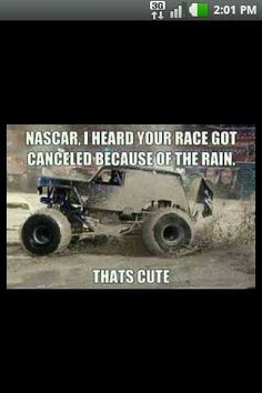 Lord knows I love nascar but this is still funny.