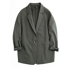 Dark Gray Vintage Loose Blazer
