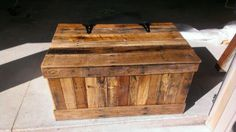 Hidden compartment reclaimed pallet wood chest by Palletinnovation, $400.00