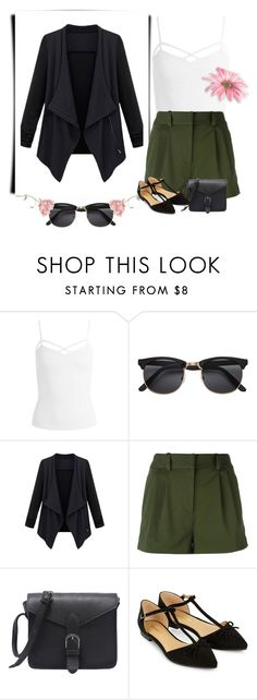 """casual"" by kaxix on Polyvore featuring moda, Sans Souci, Versace, Accessorize, school, black, Work i khaki"