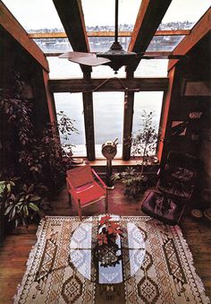 From the 1977 book Houseboat: Reflections of North America's Floating Homes... History, Architecture, and Lifestyles. by Ben Dennis and Betsy Case.