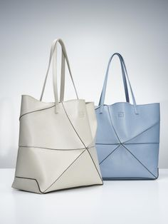 Light Blue and Light Sand '#Origami Ala' bags.