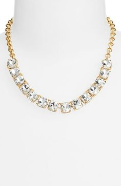 Free shipping and returns on kate spade new york 'squared away' bib necklace at Nordstrom.com. Luminous mirror-backed crystals sparkle glamorously along a shimmering, stone-studded necklace.