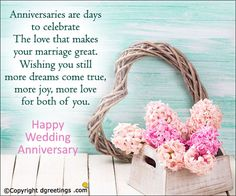 Anniversaries are days to celebrate