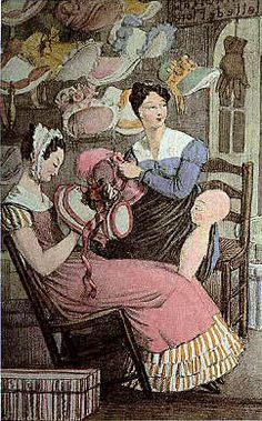 French milliners at work 1822