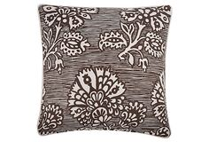Flowering Blooms 18x18 Pillow, Java on OneKingsLane.com