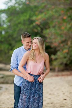 A Blissful Beach Engagement Session at Rincon, Puerto Rico.