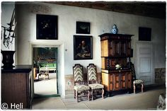 17th century barock room in Louhisaari manor in Askainen Finland