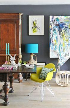 Mariska's Bold & Bright Amsterdam Apartment — House Call | Apartment Therapy