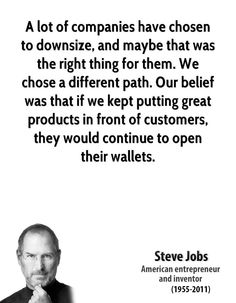 Create your own economy!!! quote Steve jobs path - Google Search