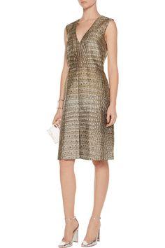 Stella McCartneyGiona croc-effect jacquard dressfront