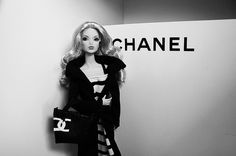 Chanel Barbie in Black and White