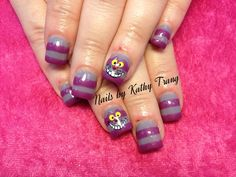 Cheshire Cat from Alice and Wonderland Nails 2013