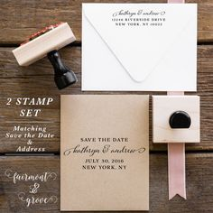 Save the Date Stamp Wedding Stamp Wedding by fairmontandgrove