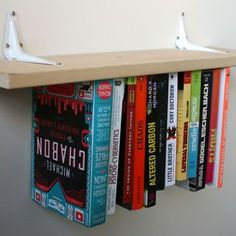 DIY Inverted Bookshelf. Very alice in wonderland-y. I wonder how I can incorporate this into my future library