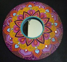 Espelho mandala (Pintura em madeira) #hippie #painting #woodwork #pintura #art #instaart #artwork #goodvibes #tripper #gypsy #gypsysoul #hippiestyle #hippy #peaceandlove #positivevibes #positivity #goodvibesonly #indian #colorful #mandala #psychedelic #zen #arts #artoftheday #handmade #handmadewithlove #diy #yogalove #dreamy de roserodriguesarte Gypsy, Mandala, Good Vibes Only, Hippie Style, Art Day, Insta Art, Peace And Love, Psychedelic, Painting Woodwork