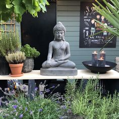 Inspiratie voor een buitenkeuken - Familie BinnensteBuiten Patio, Garden Inspiration, Curb Appeal, Garden Sculpture, Statue, Landscape, Outdoor Decor, Diy, Home