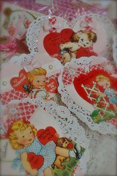 Adorable vintage crafty valentines...