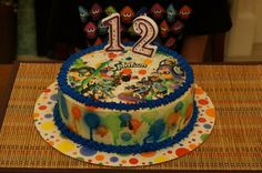 Splatoon Cake, Splatoon Edible Cake Image, Splatoon Party, Splatoon Birthday, Splatoon Edible Image
