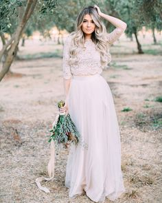 Camilla 3/4 sleeve lace top and Willow Maxi tulle skirt by Bliss Tulle  // Model: Marina Yushchuk // Florals:  Esmae Event Floral Design // Photography: Anna Perevertaylo Photography