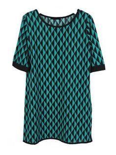 Green Rhombus Oversized T-shirt