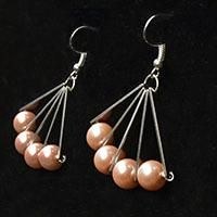 Today's PandaHall tutorial will share you a pair of pink bead cluster dangle earrings, they could be a great choice to match your daily outfits.