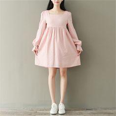 Ashlee Square Neck Long-Sleeve A-Line Dress Cute Skirt Outfits, Cute Dresses, Vintage Dresses, Casual Dresses, Short Dresses, Frock Fashion, Fashion Dresses, Flowy Summer Dresses, Girls Frock Design