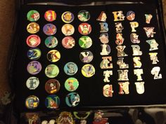 Disney pins Disney Trading Pins, Disney Pins, Walt Disney, Disney Alphabet, Disney Pin Collections, Disney World Pictures, Pixar, Addiction, Abs