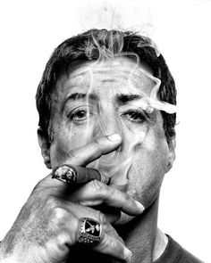 Join Carlos the intern as he searches far and near for the true cigar men of Hollywood, including Michael Jordan and Sylvester Stallone. Man Smoking, Cigar Smoking, World Press Photo, Cigar Art, Good Cigars, Rocky Balboa, Celebrity Portraits, Black And White Portraits, Celebs