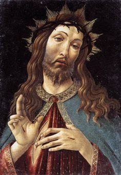 Botticelli. Christ, crowned with thorns wreath 1498-1500
