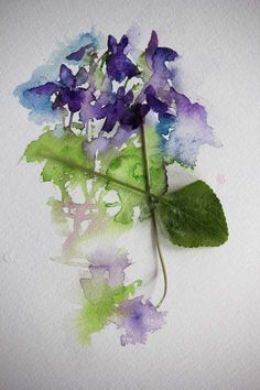 Watercolours With Life: Violets in Watercolour 2016