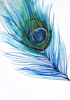 Mai Autumn - Peacock Feather ..... l want to paint one of these on a wall