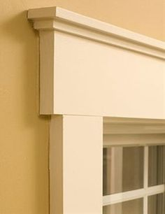 Love this simple trim for windows and doors