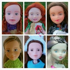 Repainted bratz monster high dolls by Kislany Rescue Dolls
