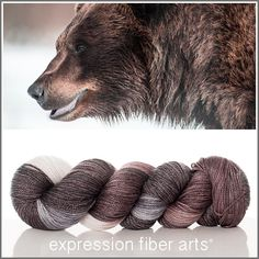 Expression Fiber Arts, Inc. - TENACITY 'LUSTER' SUPERWASH MERINO TENCEL SPORT yarn - chocolate brown, rich gray and ivory - Know a fierce power resides in you to achieve all your objectives and move past boundaries others have set for you. Never stop in your determination to experience as much as you can in life and to give back with a ferocity, vigor and love that just might change the world for the better.