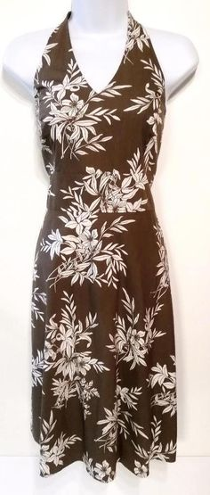 Ann Taylor Brown Sleeveless Hawaiian Dress womens size S Small #AnnTaylor #Sundress #Casual http://www.ebay.com/itm/Ann-Taylor-Brown-Sleeveless-Hawaiian-Dress-womens-size-S-Small-/322081003610
