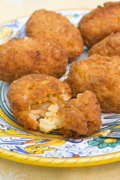 Supplì (Roman Rice Croquettes)—The ultimate Roman snack food! Medieval Recipes, Ancient Recipes, Ancient Roman Food, Ancient Rome, Ancient History, Cookie Recipes, Snack Recipes, Coconut Macaroons, Roasted Butternut Squash