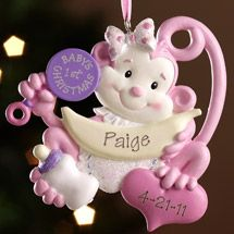 Walmart: Personalized Baby's First Christmas Monkey Ornament, Girl
