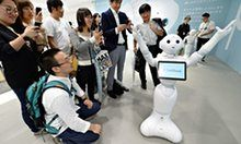 Pepper the android is set to rival George Clooney as the face of coffee in 1,000 Japanese stores, thanks to SoftBank